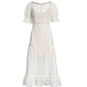 Self Portrait guipur white lace dress S-8 Stunning